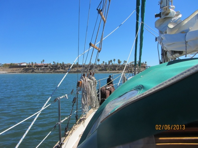 Approaching the anchorage at Punta Chivato.