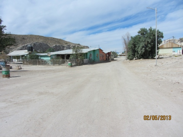 Walking into the village on Isla San Marcos