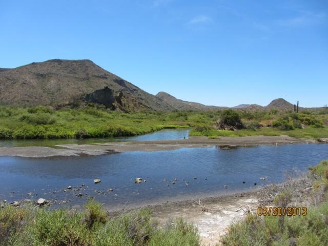 The lagoon at San Juanico.
