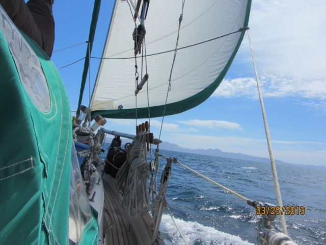Covering the 8 miles between Isla Coronados and Isla Carmen.